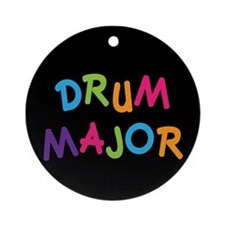 School Drum Major Ornament (Round)