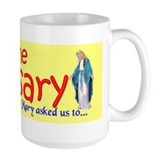 Pray the Rosary - Large Coffee Mug (g)