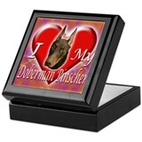 I Love My Doberman Pinscher Keepsake Box