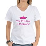 Princess Is Pregnant! Women's V-Neck T-Shirt