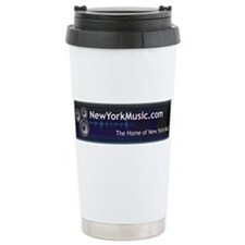 New York Music Ceramic Travel Mug