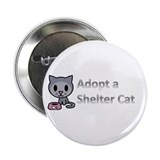 "Adopt a Shelter Cat 2.25"" Button"