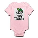 SAVE THE TURTLES Infant Bodysuit