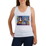 Cat Stealing Cookies Women's Tank Top