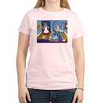 Cat Stealing Cookies Women's Light T-Shirt