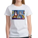 Cat Stealing Cookies Women's T-Shirt