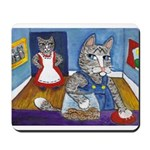 Cat Stealing Cookies Mousepad