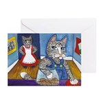 Cat Stealing Cookies Greeting Cards (Pk of 10)