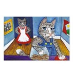 Cat Stealing Cookies Postcards (Package of 8)