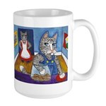 Cat Stealing Cookies Large Mug
