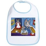 Cat Stealing Cookies Bib