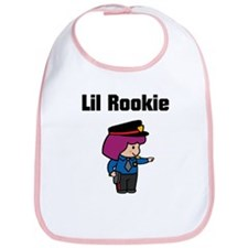 Lil Rookie Too Girl Bib
