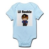 Little Rookie Too Cop Boy Infant Bodysuit