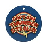Captain Thunder-Stealer Ornament (Round)