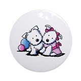 Wendell & Willow Westie Ornament (Round)