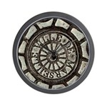 French Drain Cover Wall Clock