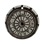 French Drain Cover Ornament (Round)