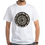 French Drain Cover White T-Shirt