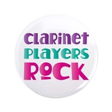 "Clarinet Players Rock 3.5"" Button"