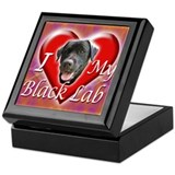 I Love My Black Lab Keepsake Box