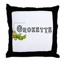 Grokette, paleo, primal Throw Pillow