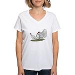 Turkeys: White Holland Women's V-Neck T-Shirt