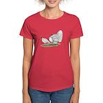 Turkeys: White Holland Women's Dark T-Shirt