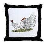 Turkeys: White Holland Throw Pillow
