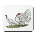 Turkeys: White Holland Mousepad