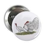 """Turkeys: White Holland 2.25"""" Button (100 pack"""