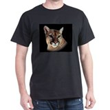 Cindy Black Cougar Stuff Black T-Shirt