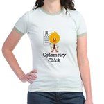 Optometry Chick Optometrist Jr. Ringer T-Shirt