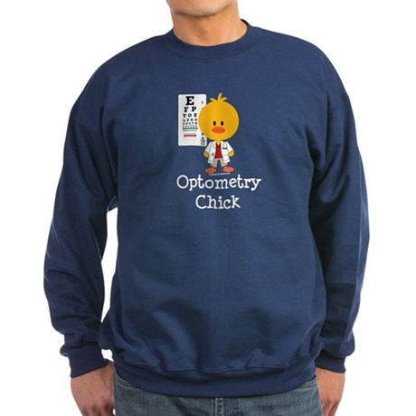 Optometry Chick Optometrist Sweatshirt (dark)