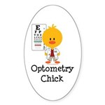 Optometry Chick Optometrist Sticker (Oval 10 pk)