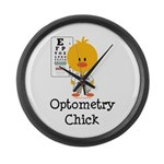 Optometry Chick Optometrist Large Wall Clock