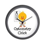 Optometry Chick Optometrist Wall Clock