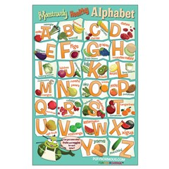 Large Healthy Alphabet Poster