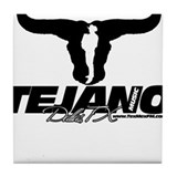Tejano Music Black Tile Coaster