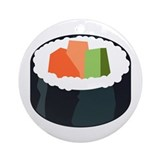 I Love Sushi Ornament (Round)
