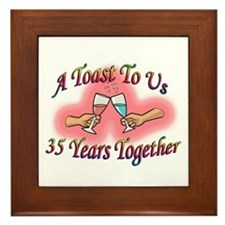 Thirty fifth anniversary Framed Tile