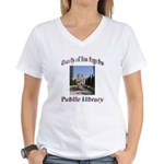 Los Angeles Library Women's V-Neck T-Shirt