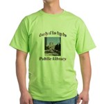 Los Angeles Library Green T-Shirt