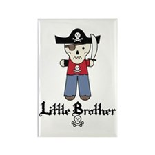 Pirate 3 Little Brother Rectangle Magnet