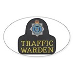 Sussex Police Traffic Warden Sticker (Oval 10 pk)