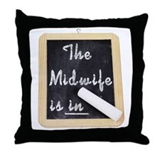 The Midwife Is In Throw Pillow