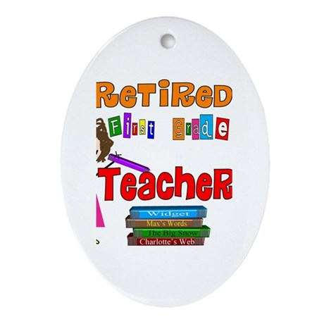 Retired Teacher II Ornament (Oval)