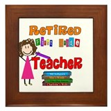 Retired Teacher II Framed Tile
