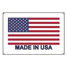MADE IN USA (w/flag) Banner