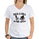Rock and Roll Women's V-Neck T-Shirt