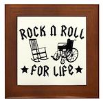 Rock and Roll Framed Tile